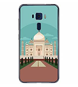 Fiobs Designer Back Case Cover for Asus Zenfone 3 ZE552KL (5 Inches) (Tajmahal Art Symbol Agra)