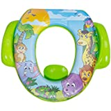 Mee Mee Cushioned Non-Slip Potty Seat with Easy Grip Handles and Pee Shield Green