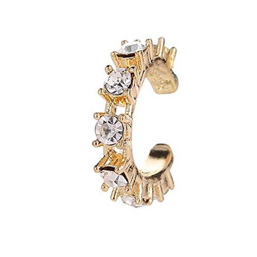 TODAYTOP Ohrclips Ear Cuff Earrings für Frauen Mädchen einstellbar ohrklemmen Knorpelclip Wrap Ohrringen Keine Piercing Knorpel Ohr Manschette... (Gold, 1 Stück)