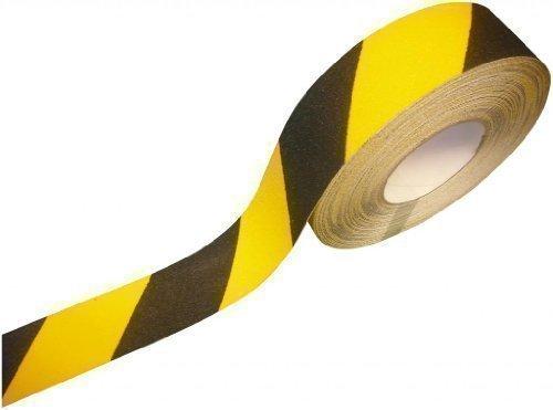 Preisvergleich Produktbild Direct Products - Rutschfestes Selbstklebendes Band 50mm x 10m Gelb/Schwarz Griffband