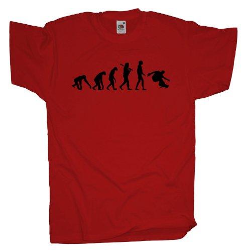 Ma2ca - Evolution - Skateboard T-Shirt Red