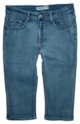 X-Max Damen 3/4 Stretch Capri Jeans Hose, outwashed/Strong Used X-990, Gr.44=W34 (Herst.46) Stretch-capri-jeans