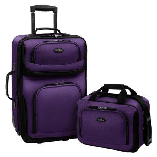 U.S. Traveler Rio Zwei Stück erweiterbar Handgepäck Set, violett (violett) - US5600 -