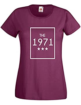 Settantallora - T-shirt Maglietta donna J2059 The 1971 Nata nei Mitici Anni Settanta
