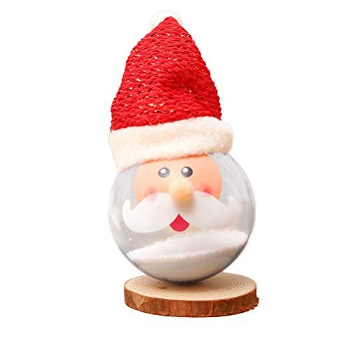 BESTOYARD Weihnachten Santa Hängende Beleuchtung Ball Xmas Tisch Schreibtisch Dekoration für Home Office 2Pcs
