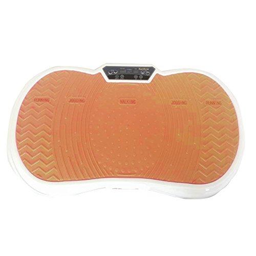 RanBow Leistungsstarke Fitness Vibrationsplatte, 99 Level zu wählen - Full Body Vibrationsmaschine mit Resistance Bands und Remote Controll - Gold