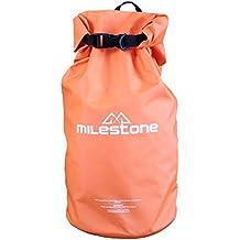 Milestone Heavy Duty Dry Back Pack Ruck Sack - Orange, 30 Litres