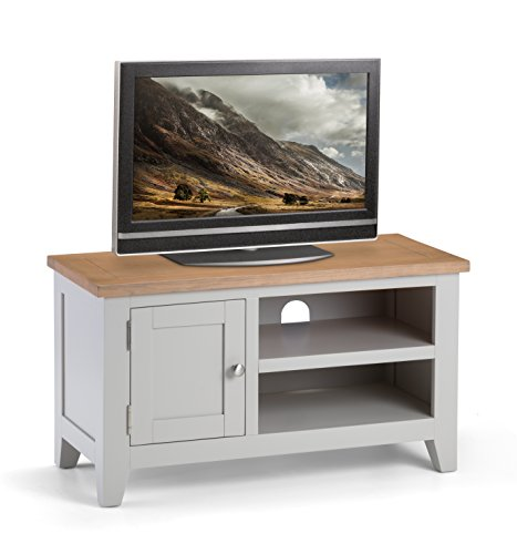 Julian Bowen TV Unit, Oak, Grey/Oak, Medium Best Price and Cheapest