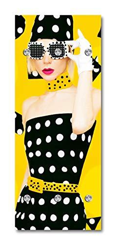 Cuadros Lifestyle Designer-Garderobe | Wandgarderobe | Flurgarderobe | Garderobenhaken | Garderobenpaneel | Urban Look | Kleiderständer | Kleiderablage | Garderobenständer, Größe:50x125 cm