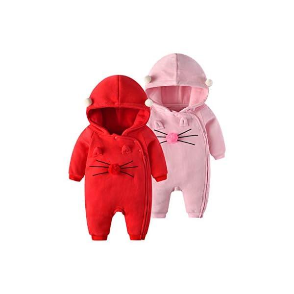 Traje de Moda Infantil Vogue Bebé recién Nacido bebé niña niño Floral Volante Mameluco Mono Trajes de Mono Conveniente… 4