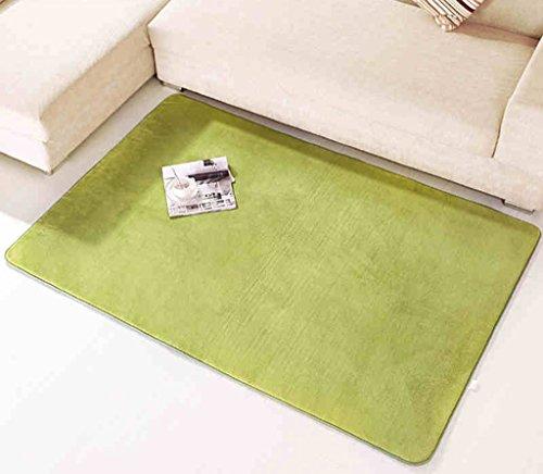 Quadratisches Wohnzimmer Couchtisch Absorbent Teppich Das Schlafzimmer ist voll von Bettwäsche Floating Window Anti - Gleit - Teppich SYFO (Color : Khaki, Size : 0.6 * 1.8m) -