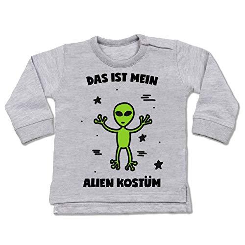 g Baby - Das ist Mein Alien Kostüm - 12-18 Monate - Grau meliert - BZ31 - Baby Pullover ()