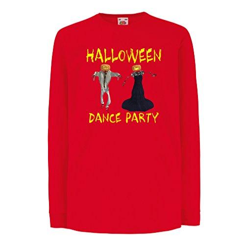 Kinder-T-Shirt mit Langen Ärmeln Coole Outfits Halloween Tanz Party Veranstaltungen Kostümideen (9-11 Years Rot Mehrfarben)