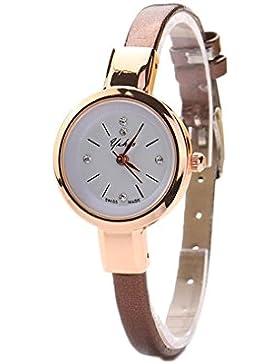 Susenstone Lady runde Quarz Analog Armband Armbanduhr