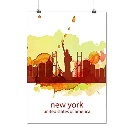 city-urban-usa-new-york-view-tour-matte-glossy-poster-a3-42cm-x-30cm-wellcoda