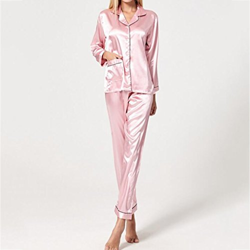 5c4954addf GJM Shop cotton with pockets bathrobe---- Cardigan Solid Color Long Sleeves  Silk Pajamas Can Be Worn Outside Stylish Simplicity Home Clothes Tops +  Pants ...