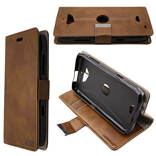 caseroxx Hülle/Tasche Bookstyle-Case Crosscall Action-X3 Handy-Tasche, Wallet-Case Klapptasche in braun