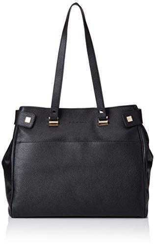 Piquadro Shopping Bag Collezione Cristal Borsa a spalla, Pelle, Nero, 38 cm
