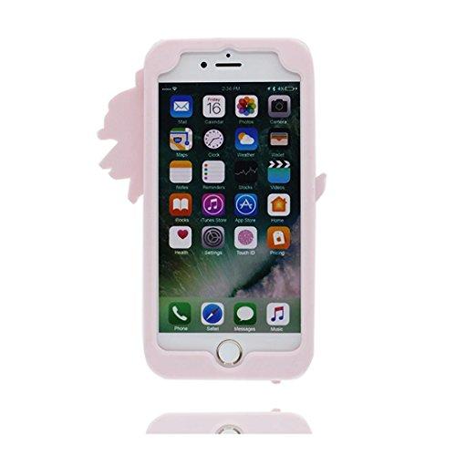"iPhone 7 Plus Hülle, TPU Gel Shell für Mädchen Handyhülle iPhone 7 Plus Cover 5.5""- Lovely 3D Cartoon Bamboo Panda, Durable Anti-Schock-Kratzer Pink"