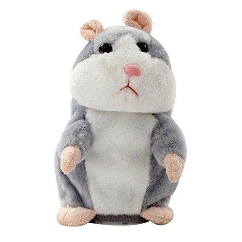 Talking Hamster Repetir lo que dices, Hámster Juguete Hablar hámster mimetismo mascotas Muñeco de Peluche para niños Niños,Juguetes de Peluche Niños-15cm, repite lo que dices