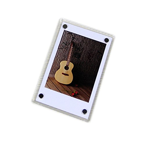 CLOVER Acrylic 3 Inch Magnetic Fridge Magnets Photo Frame for Fujifilm Instax Mini 7s 25 50 mini8 Instant Films