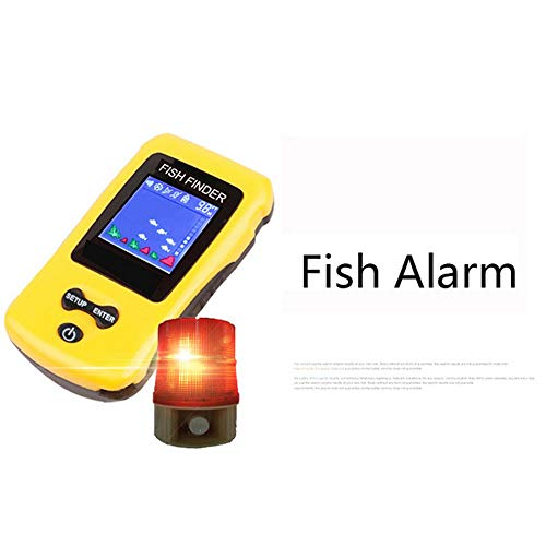 lubishengwuliu Kabelloser Fischfinder, tragbar, für Fische, Kanus, Kajaks und Schwimmröhren.