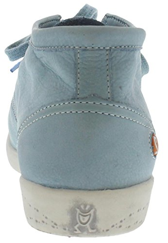 Softinos Indira washed leather Damen Derby Schnürhalbschuhe Pastellblau