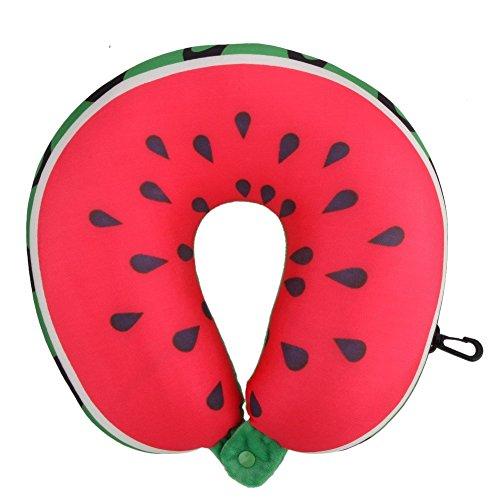 WinnerEco Creative Süße U in Hals Reisekissen Cartoon Fruit Kissen Wassermelone -