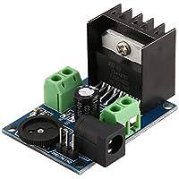 sdfghzsedfgsdfg Tablero del amplificador TDA7297 Super Mini DC 6-18V del módulo de alimentación de doble canal electrónico Herramienta de bricolaje audio Amplify volumen ajustable azul y negro