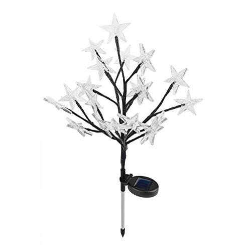 Vektenxi LED Solar Batterieleistung Sternform Blume Licht im Freien Garten Weg Hof Rasen Landschaft Licht Lampe langlebig und praktisch