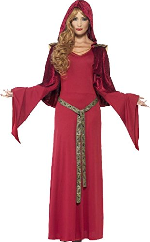 Mittelalter-Partykleid im Hohe-Priesterin Look , rot