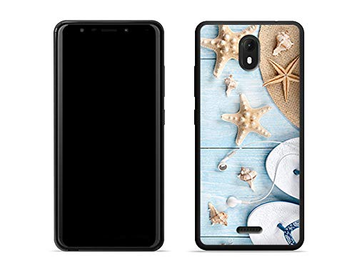 etuo Wiko View Go - Hülle Foto Case - Seesterne - Handyhülle Schutzhülle Etui Case Cover Tasche für Handy
