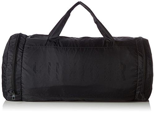 Tommy Hilfiger Herren Packable Duffle Geldbörse, Schwarz (Black), 4x12x10 cm