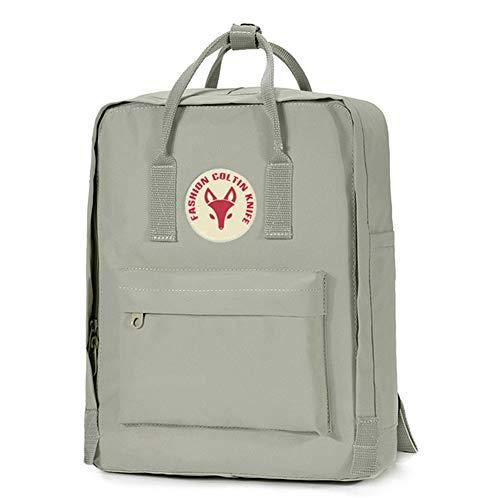 Rucksäcke Schulrucksack für Mädchen, Canvas Rucksack Backpack Blau Schwarz Leinwand Schulranzen für Mädchen Schultasche Segeltuch Rucksack (Q,M)