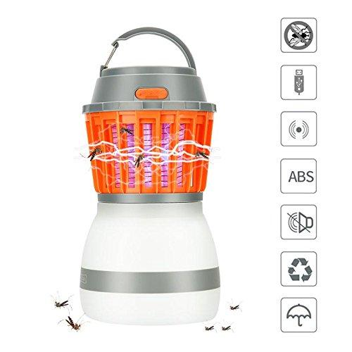 Campinglampe Mückenkiller, JIM'S STORE 2 in 1 Moskito Mörder Lampe LED Mückenlampe wasserdicht tragbare Zeltlampe USB Aufladbare Insektenvernichter für Outdoor-Camping Wandern (Low-light-level)