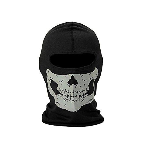 FB Sport – Dehnbare Totenkopf-Maske– Schlauchschal/Sturmhaube für das Motorrad-, Snowboard-, Ski- oder Radfahren, Herren, Full