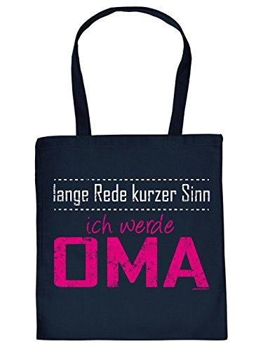 Stofftasche Tragetasche Tasche! Lustiges Geschenk für werdende Omas - lange Rede kurzer Sinn ich werde Oma!