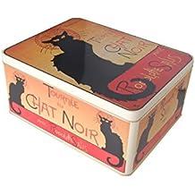 French Classics - Caja metálica, diseño de Chat Noir (26 x ...