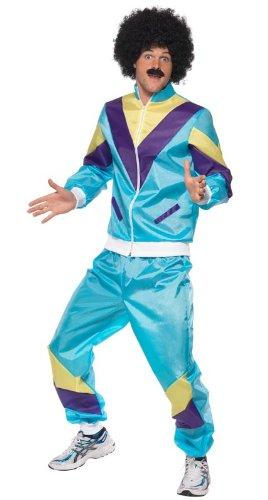 Imagen de smiffy's  disfraz de años 80s retro para hombre, talla l 39298l  alternativa