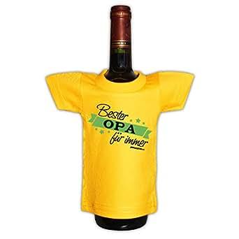 Originelle Flaschenverpackung - Bester Opa für immer - Mini T-Shirt als Geschenk für alle lieben Großväter!