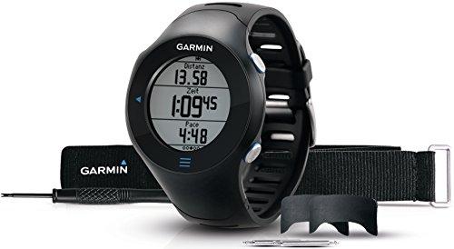 Garmin Forerunner 610 HRM (incluye monitor de frecuencia cardiaca) - Reloj con GPS integrado y pulsómetro (pantalla táctil), color negro