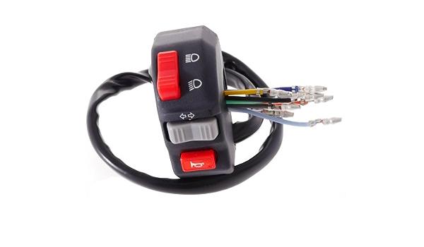 Schaltereinheit Universal Blinker Hupe Licht Mofa Moped Auto