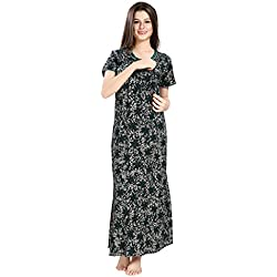 AV2 Women Printed Feeding/Nursing/Maternity Nighty
