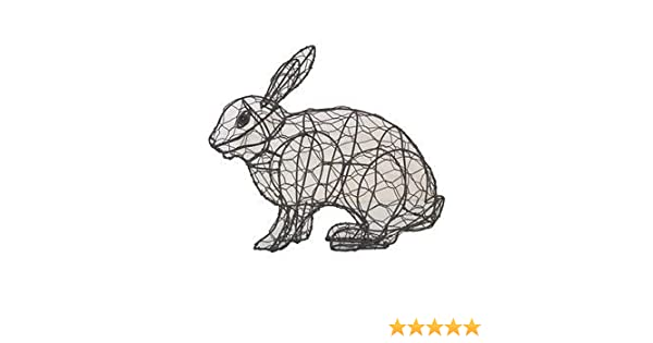 Rabbit Running 23 x 29 x 11cm Topiary Mesh Wire Frame for Box ...