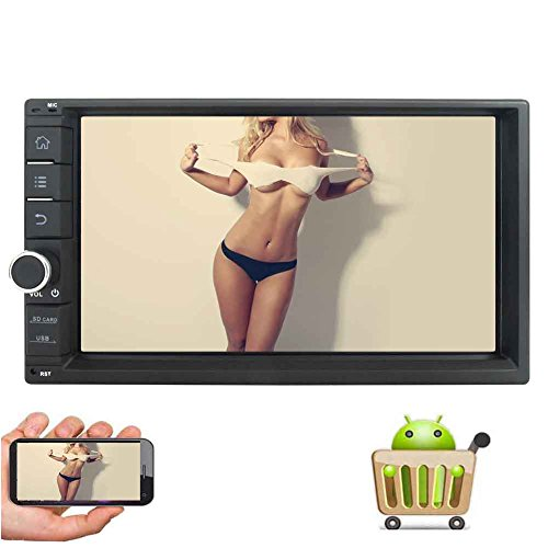 7 '' HD Capactive écran tactile Android 6.0 2GB Car Stereo Radio Récepteur double Din Marshmallow avec GPS Autoradio Headunit Système de navigation Autoradios Soutien 1080P vidéo Miroir-WIfi liaison Bluetooth AM FM RDS