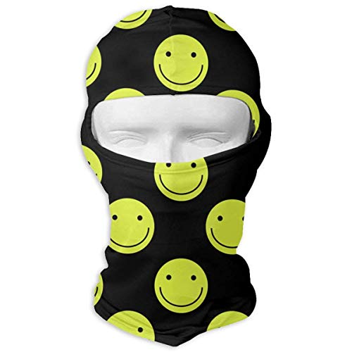 Happy Halloween Full Face Masks UV Balaclava Protection Ski Sports Cap Motorcycle Neck Warmer Tactical Hood for Cycling Outdoor Sports Snowboard Women Men Youth Design11 - Happy Face Tee