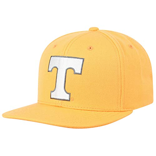 Top of the World NCAA Tennessee Volunteers Men's Flat Brim Snap Back Team Icon Hat, Light Orange