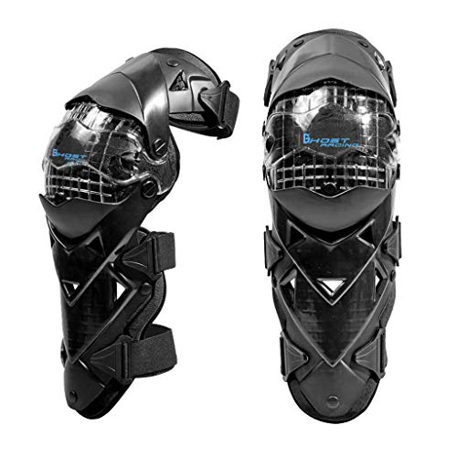 H HILABEE Motorrad Knieschützer, Erwachsene Crashproof Knie Ellenbogen Schienbeinschoner Für Motocross ATV Mountain Biking Racing (schwarz)