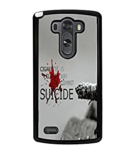 Fuson Meaningful Text Back Case Cover for LG G3 - D3655
