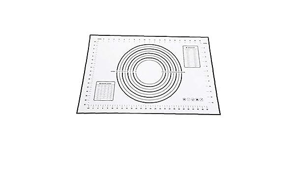 Backwaren Non-Slip Silikon-Backmatte Ma/ße Silikon-Backen-Matte Z/ähler Mat Teig Rollen Mat Fondant//Pie Crust Mat Schwarz